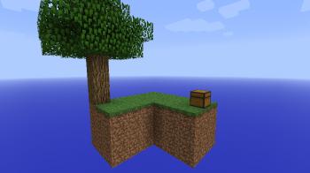 Карта на выживание SkyBlock 2.1 для minecraft