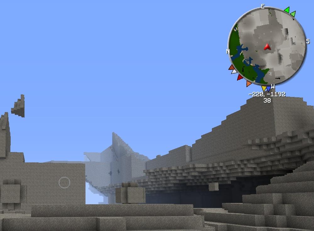 Отображение склонов и рельефов местности на мини карте VoxelMap для Майнкрафт