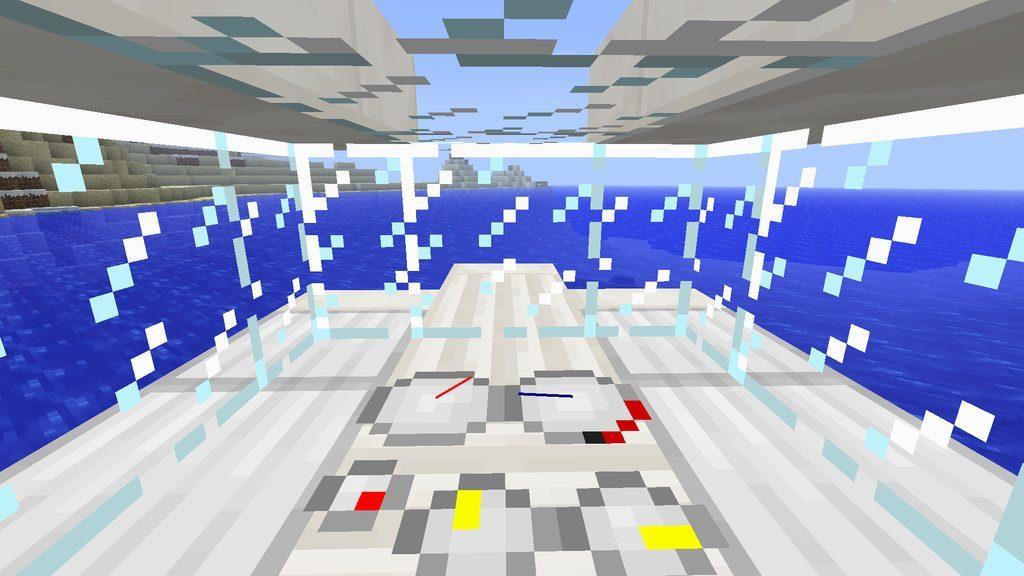 Приборная панель корабля в Майнкрафт