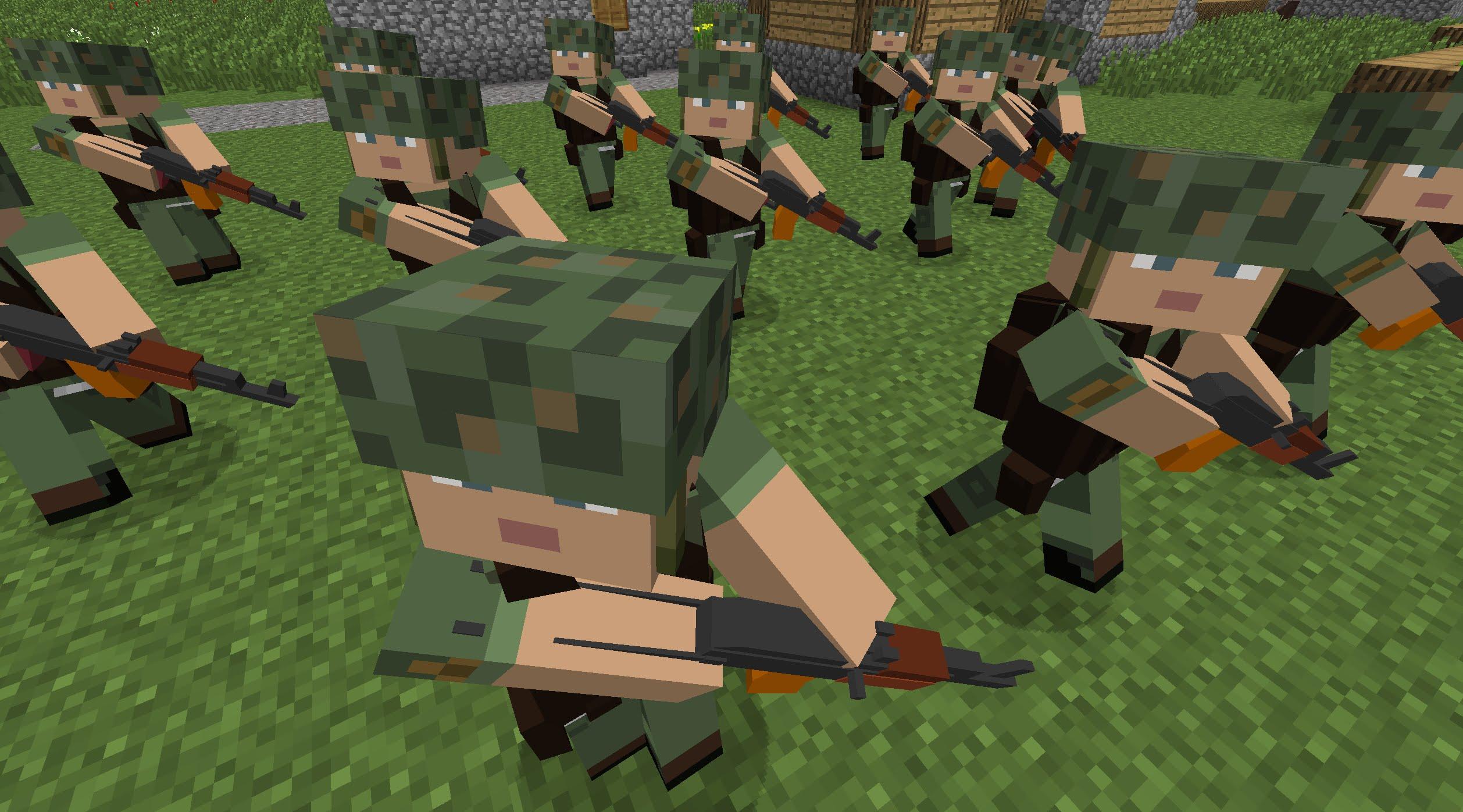 мод на майнкрафт 1 10 2 на солдатов