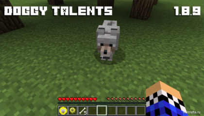 Doggy Talents Mod для Майнкрафт 1.8.9 - мод на прокачку собаки