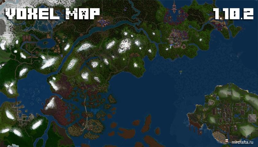 Мод VoxelMap для Майнкрафт 1.10.2 - мини карта